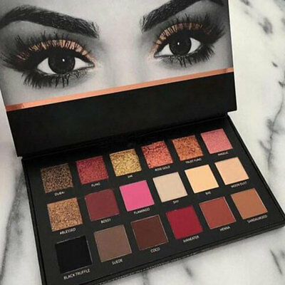 Huda Beauty Rose Gold Palette Glister Textured Shadows Palette Pallet Make Up DE