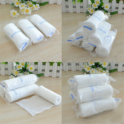 3~10 Rolls Medical First Aid Treatment Elastic Bandage Gauze Athletic Care Tape