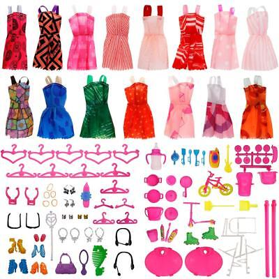 113 PCS Barbie Accessories Clothes Set Randomly for Girl's Christmas Gift YU