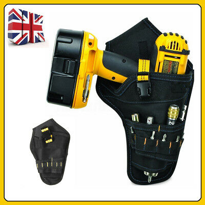 UK Drill Holster Lithium Ion Cordless Tool Holder Heavy Duty Black Belt Pouch