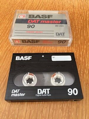 BASF DAT Tape - Master 90 - 90 Mins - Digital Audio Tape Cassette - Silver