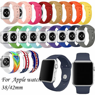 Sport Silicone Wrist Bracelet Watch Band Strap For Apple Watch Series 3/2/1