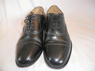 Vintage Oxford Shoes, Black Leather, Size 8 1/2, Slight Wear