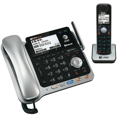 ATT TL86109 DECT 6.0 2-Line Connect-to-Cell(TM) Corded/Cordless Bluetooth(R) Pho