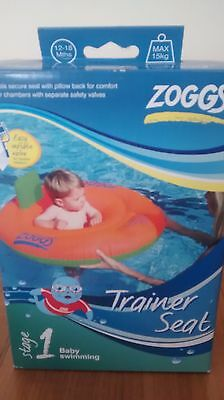 zoggs trainer seat stage 1 baby swimming 12-18 months