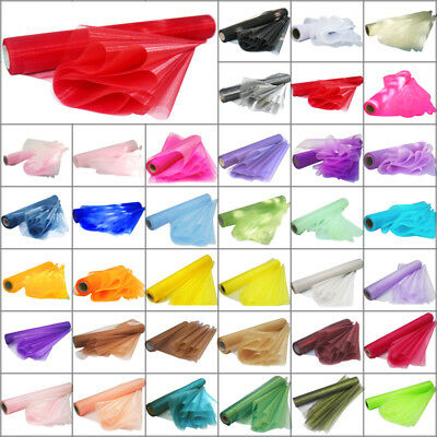 *Clearance Sale* 18M x 36CM Organza Roll Sheer Fabric Chair Bows Runner Sash