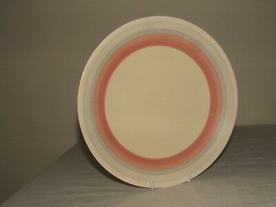 Clarice Cliff Art Deco Bizarre Pink Banded Cake Plate Truly Stunning