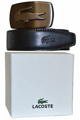 Lacoste Men Reversible Leather Black/Brown Belt with 1 Buckle