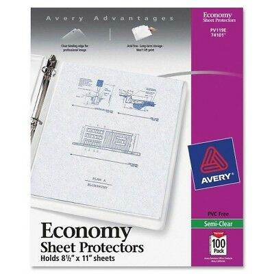 "Sheet Protectors,Economy Weight,11""x8-1/2"",100/PK,Semi-clear AVE74101"