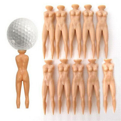 10pcs/pack Novelty Tees Simulation Naked Lady Plastic Outdoor Golf Ball Tees