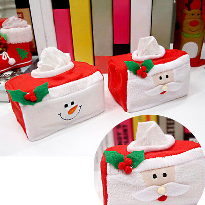 Home Christmas Tissue Box Flannel Cover Dining Table Decor Child Kid Gift