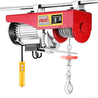 1320Lbs Mini Electric Wire Hoist Remote Control Garage Shop Overhead Lift