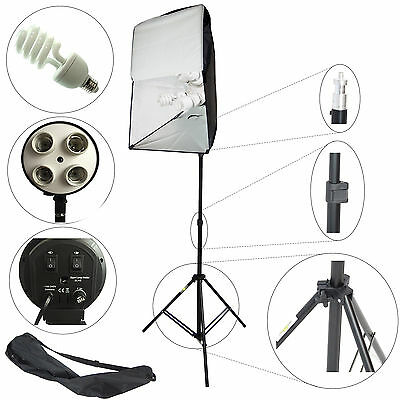 DynaSun ES470KIT 50x70cm E27 4in1 avec Trépied, Support, 4x Lampe jour, Softbox