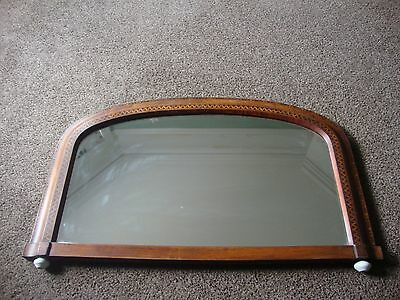Antique inlaid Tunbridge mirror