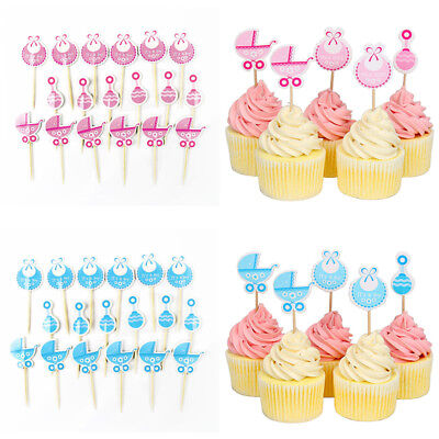 Boy/Girl Type Kids Birthday Cute Cupcake Toppers Baby Shower Cake Decorations