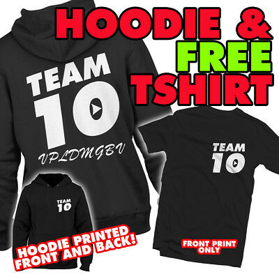 Team 10 Hoodie & FREE tshirt - Jake & Paul & Logan - Youtubers logang