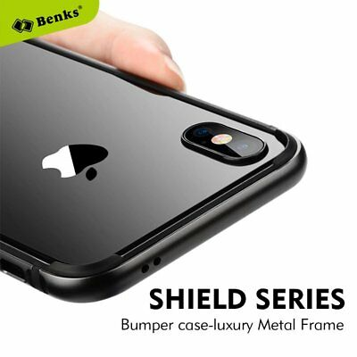 Benks Metal Aluminum + TPU Frame Bumper Protcetive Back Case Cover For IPhone X