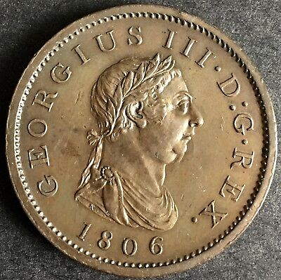 1806 Penny a/Uncirculated superb
