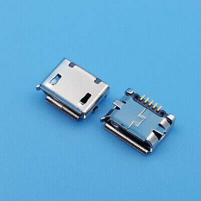 100Pcs Micro USB Type-B Female 5Pin Socket SMD SMT Solder Jack Connector