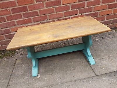 Old Style Vintage Cottage Type Wood Wooden Coffee Table Painted Annie Sloan Oak