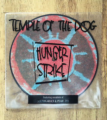 """Temple Of The Dog – Hunger Strike 7"""" Vinyl Pic Disc A&M Records – AM 0091"""