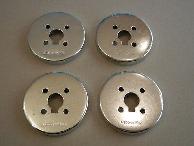 "Meccano 2.1"" Metal Wheel Flange X 4"
