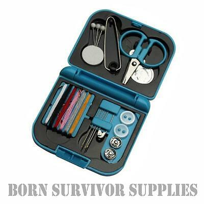 19PC COMPACT TRAVEL SEWING KIT Pocket Sized Repair Set Camping Housewife Camping