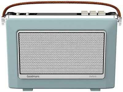 Goodmans OXFORD 2 Retro DAB+ Bluetooth NFC Digital FM Radio Vintage Style Blue