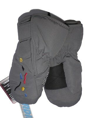 Baby BOYS easy on/off SNOW / Winter MITTENS by GORDINI 12M Grey (XXS) BNWT