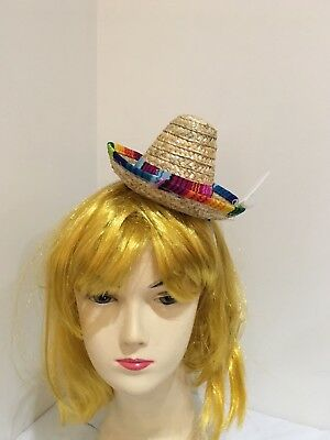 Mini Mexican Hat on Headband Fiesta Party Costume Spanish Sombrero