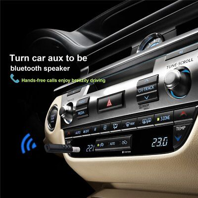 Handsfree Wireless Car Bluetooth Receiver 3.5mm AUX Music Stereo Audio Adapter
