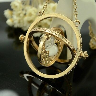 18k Gold Plated Harry Potter Time Turner Necklace Hermione Granger Rotates Spins