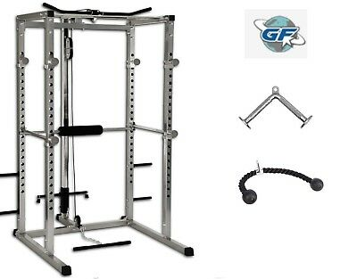 power cage squat rack lat pulldown