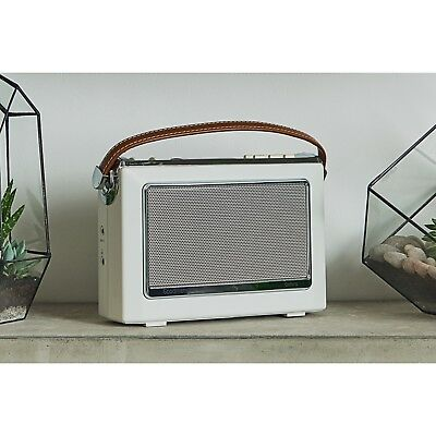 Goodmans OXFORD Retro DAB+ Digital FM Radio Vintage 1960's Style - Ivory White