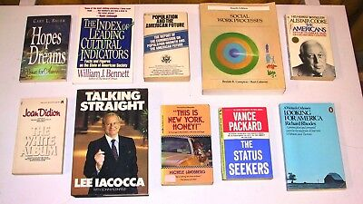 10 Book Lot - American Sociology (Joan Didion, Lee Iacocca, Vance Packard, etc.)