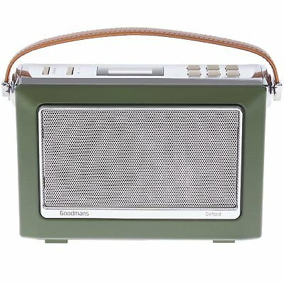 Goodmans OXFORD Retro DAB+ Digital FM Radio Vintage 1960's 60's Style - Green