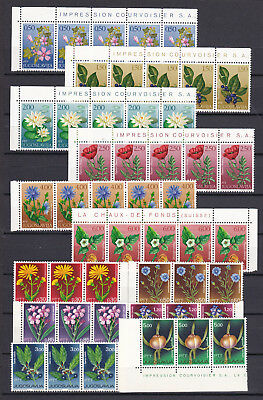 Yugoslavia  - flowers -  collection on page - MNH