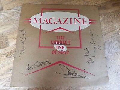 Magazine LP The correct use of soap UK Virgin 1st press SIGNED BY ALL INC DEVOTO