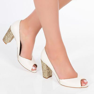 Charlotte Mills Wedding Shoes Becky Gold Size 4