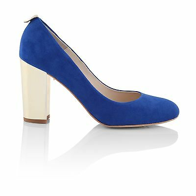 Charlotte Mills Beatrice Blue Wedding Shoes Size 3