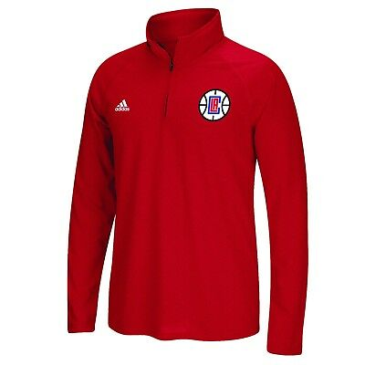 Adults Large LA Clippers adidas Climalite 1/4 Zip Top H839