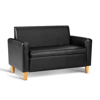 Kids Double Couch - Black & Pink