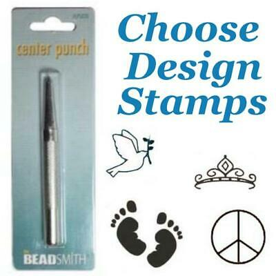 Beadsmith Stamp Metal 5-6mm approx Design Punches Stamping Tools Choose Design