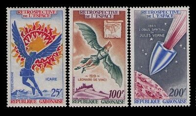 1970 Gabon Airmail stamps, ICARUS AND SUN SC# C92-4 Cpl.MLH/MH set,CV:$7.60