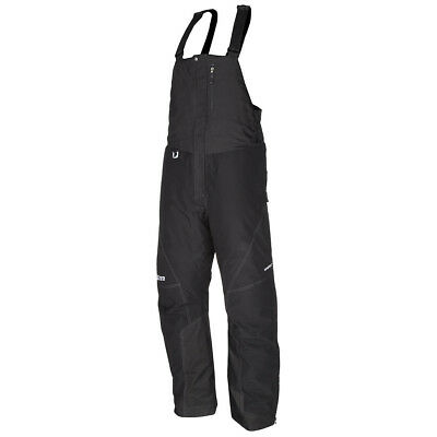 Klim Klimate Men's Short Black Bib Snow Pants Large 3178-004-340-000