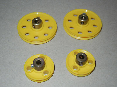 MECCANO 38mm / 25mm PULLEY X 4