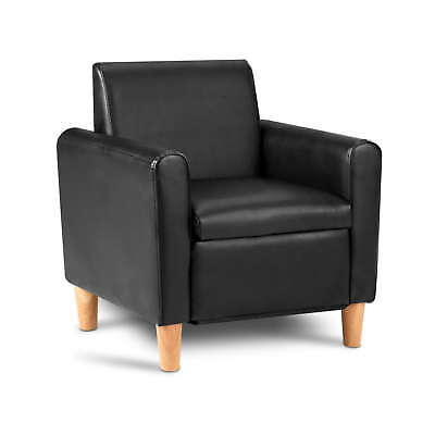 Kids Single Couch - Black & Pink