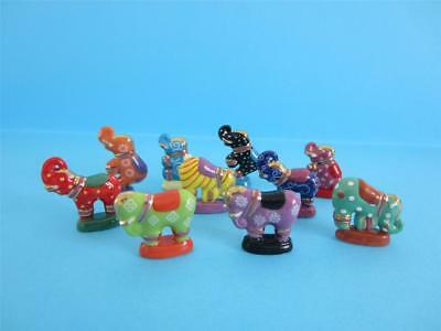 Amazing Miniature Porcelain, Fancy Elephant Figurine Collection, Rare On Ebay