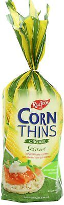 Real Foods Organic Sesame Corn Thins, 5.3 Ounce -- 6 per case.