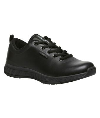 KingGee Superlite Lace Up Womens Safety Work Shoes in Black Full Grain Leather